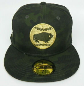 BUFFALO BISONS MiLB NEW ERA ARMED FORCES MILITARY 59FIFTY SIZE 71/2 HAT CAP NEW!