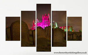 Whitby Abbey And Dracula Grave Yard Gothic Wall Art Photography Canvas Print