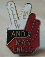 MANCHESTER UNITED Vintage 70s 80s badge Maker REEVES Bham Brooch pin 23mm x 35mm