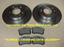FORD GALAXY 1.9 TDi  95-06 TWO SOLID REAR BRAKE DISCS AND A SET OF BRAKE PADS