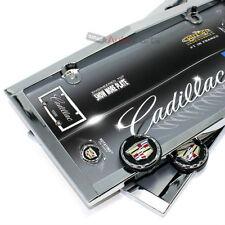 2 Cadillac Chrome License Plate Tag Frames for Auto-Car-Truck +2 Screw Bolt Caps
