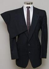 Vintage mens 44L Brookshire 2 piece charcoal pick&pick wool Suit
