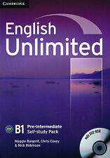 Cambridge ENGLISH UNLIMITED PRE-INTERMEDIATE Self-Study Pack/Workbook w DVD @NEW