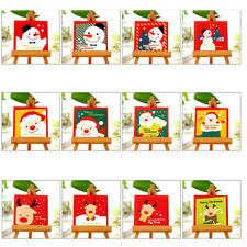 12Pcs Square Mini Greeting Cards with Envelopes for Children Kids Xmas Gifts