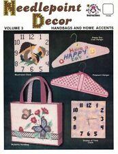 Harold Mangelsen NEEDLEPOINT DECOR Vol 3 for Plastic Canvas Hangers Clocks Totes