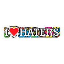 I LOVE HATERS STICKERBOMB JDM Sticker Decal Car  #0288