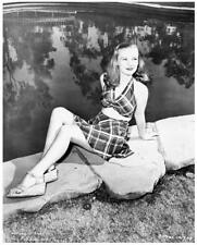 VERONICA LAKE great 8x10 leggy outside still -- j018
