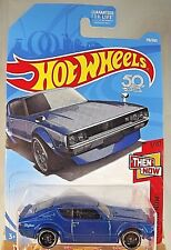 2018 Hot Wheels #118 Then and Now 1/10 NISSAN SKYLINE 2000 GT-R Blue w/BlackSt8