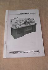 Colchester Master MK 2 Lathe Manual