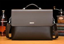 New Business Men's Leather Handbag Briefcase Bag Laptop Shoulder Bags
