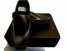 Perry Ellis Portfolio Black Leather Loafers Dress Shoes Mens Size 10.5