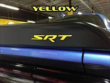 2015-16 Dodge Challenger/Charger Hellcat SRT Rear Spoiler Decal Vinyl Overlay