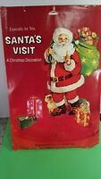 Vintage Christmas Honeycomb Paper fold out Christmas Decoration Santa NOS