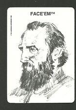 Thomas J Jackson Stonewall American Civil War 1989 Face 'Em Collector Card