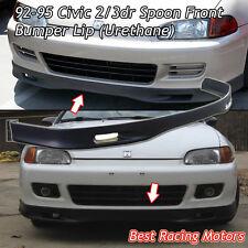 SPN Style Front Bumper Lip (Urethane) Fits 92-95 Honda Civic 3dr
