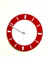 Round Wall Clock In Red And White