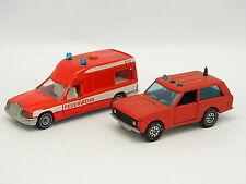 Siku 1/55 - Mercedes Clase E Ambulancia Bomberos Feuerwehr + Range Rover