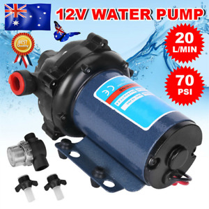 High Pressure 12V Water Pump 20L/MIN 70 PSI for Camping Caravan Farm Boat AU