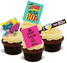 NOVELTY EIGHTIES PARTY MIX 'B' 12 STANDUPS Edible Cake Toppers 80s Rock Birthday