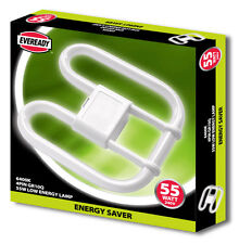 EVEREADY 2D LAMP 4 PIN 55W BULB LIGHTING 6400K