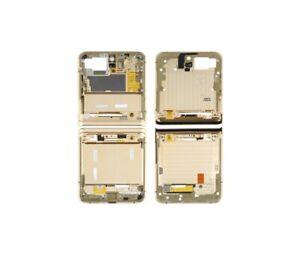 Cadre Supérieur + Inférieure Pour Samsung Galaxy Z Flip 5G Doré