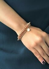 PHILIPPE AUDIBERT Uma Single Row Spiked Rose Gold Bracelet