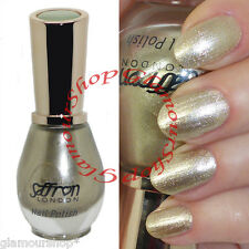 Shimmer WHITE GOLD Nail Polish Varnish by Saffron London #50 Frosted Gold