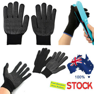 2pcs Heat Proof Resistant Protective Gloves for Hair Styling AU