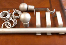 "1"" Diameter Iron Drapery Rod set with Brackets, Rings, Finials and 8' Rod."