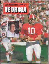 1985 Georgia vs South Carolina original college football program