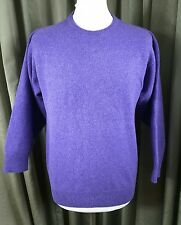 Cordings 100% Pure New Wool Purple Jumper - M Made in Scotland