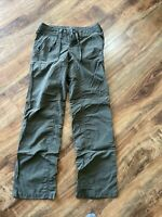 THE NORTH FACE Olive Green HORIZON TEMPEST Convertible Roll-Up Utility Pant 2 XS