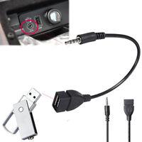 3,5mm Stecker Audio Jack zu USB 2.0 Buchse Konverter Adapterkabel für Auto MP3 -
