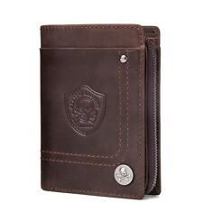 Men's Slim Mini Wallet Money Bag Male Genuine Cow Leather Card Holder Coin Purse