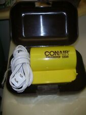 VINTAGE CONAIR VANABOND 1250 folding Electric Hair Dryer in original case @1970s