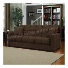 Convertible Sofa Sleeper Futon Fold Out Couch Full Size Guest Bed Microfiber New