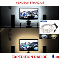 RUBAN LED TV BLANC-BLANC CHAUD POUR TV ORDINATEUR TABLETTE ETC....