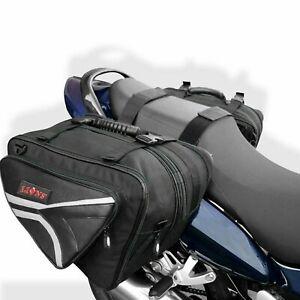 Motorbike Saddle Bag Expandable Throw Over Panniers Saddlebag Motorcycle Travel