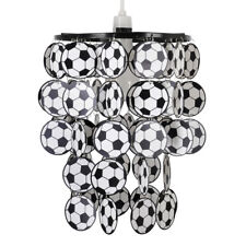 Boys Kids Bedroom Black  White Football Ceiling Light Pendant Shade Lampshade