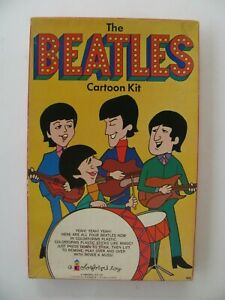THE BEATLES CARTOON KIT by COLORFORMS  COMPLETE!