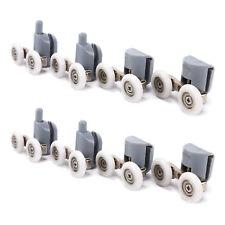 2 Par Rodamiento Inferior / Superior de Doble Rueda para Puerta de Ducha 25mm