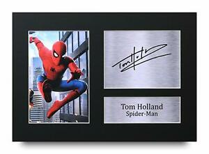 Tom Holland Signed A4 Framed Printed Autograph Spiderman Avengers Print Gift