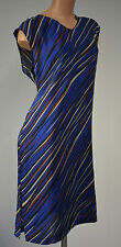 Damen Kleid  Benetton Cocktailkleid Abendkleid Partykleid Etuikleid Gr. M Blau
