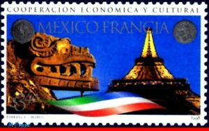 2105 MEXICO 1998 COOPERATION FRANCE, EIFFEL TOWER, ARCHAEOLOGY, MI# 2752, MNH