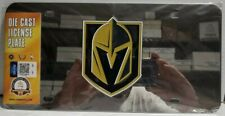 Fanmats NHL Vegas Golden Knights Stainless Steel Diecast Front License Plate Inl