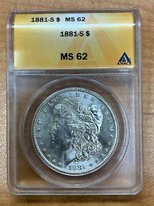 1881-S Morgan Silver Dollar ANACS MS62 Blast White