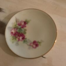 Vintage Hand Painted China Flower Plate Wall Hanging Decor Collectible Art