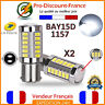 2 x ampoule 33 LED BLANC BAY15D 1157 P21W VOITURE STOP P21/5W Ampoules Feux Jour