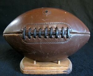 LQQK Old Antique Late 1930's BEGGS COBB 9 Lace Leather Football Vintage Pigskin