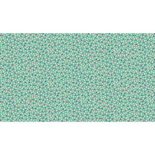 Makower Katie Jane Ditzy (turquoise)100 Cotton Fabric Patchwork Quilting
